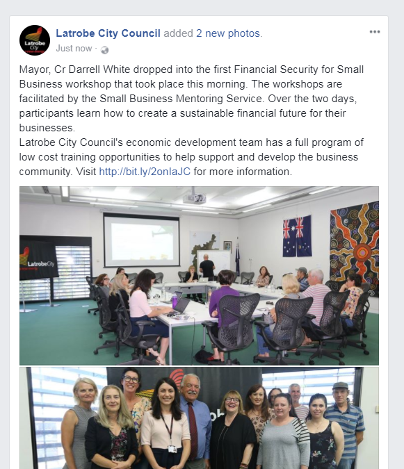 WORKSHOP: Financial Security for Small Business in the Latrobe Valley